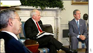 President Bush, Vice President Cheney, Secretary of State Powell