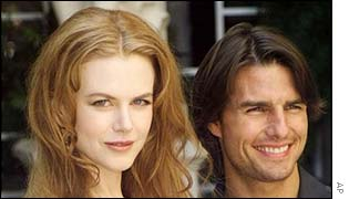 US actors Nicole Kidman and Tom Cruise