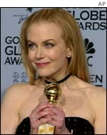 Nicole Kidman wins a Golden Globe for Moulinn Rouge