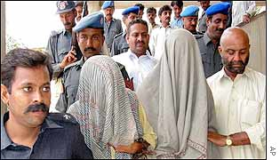 Karachi police bring suspects to court