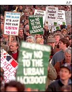 1998 countryside march in London