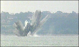 Bomb explodes in the Solent