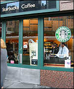 A US Starbucks coffee outlet