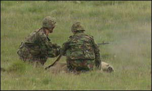Army training on moor