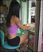Girl selling betel nuts
