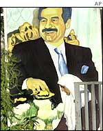 Poster of Saddam Hussein