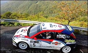 Colin McRae during the eleventh stage of the rally