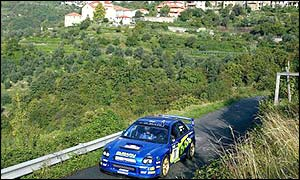Sweden's Petter Solberg races well for the Subaru Impreza team