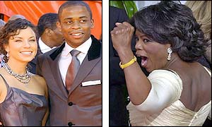 Dule Hill and Oprah Winfrey