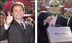 Rob Lowe and Andy Sale of Ernst and Young