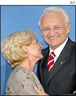 Stoiber with his wife Karin
