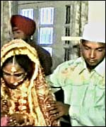 Paramjit and her husband getting married