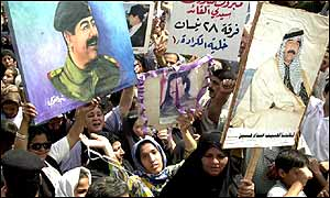 Pro-Saddam demonstrators in Iraq