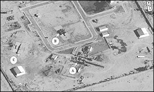 Satellite image shows a new engine test stand being constructed