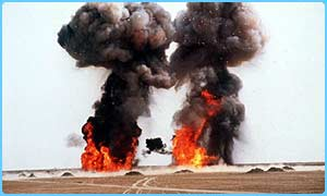 Iraqi rockets being destroyed in 1998