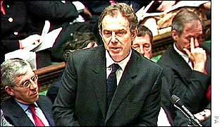 Tony Blair in House of Commons