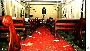 Church in Taxila after attack