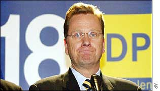 Guido Westerwelle on election night
