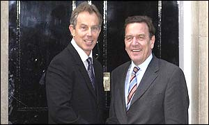 Tony Blair and Gerhard Schroeder