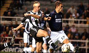 Alan Shearer was off target for Newcastle