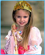 Barbie Rapunzel looks set to be a winner with young girls.