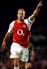 Arsenal striker Dennis Bergkamp