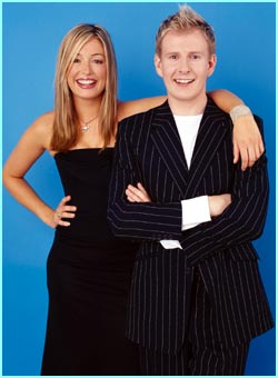 Presenters Cat Deeley and Patrick Kielty...