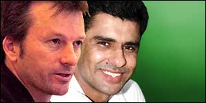 Steve Waugh and Waqar Younis