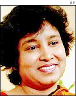 Exiled author Taslima Nasreen