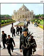 Security forces as the temple in Gandhinagar