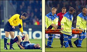 Keown's hamstring injury prompts a reshuffle at the back for Arsenal