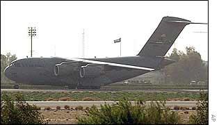 US cargo plane in Kuwait
