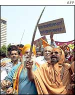 World Hindu Council protesters