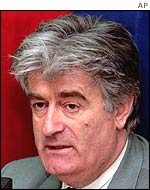 Radovan Karadzic, pictured in 1996