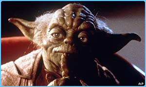 Famous Jedi Knight Yoda from Star Wars