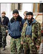 Chechen rebel fighters