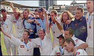 Yorkshire celebrate victory over Somerset