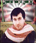 Graphic of Yehya Ayyash (courtesy of Hamas website)