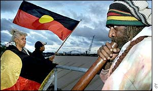 Aboriginal protest over land