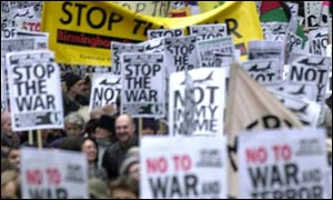 A 2001 anti-war march in London