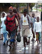 Residents of Bouake
