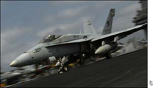 US Navy F/A-18 Hornet strike fighter
