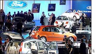 Ford stand at Paris Motor Show