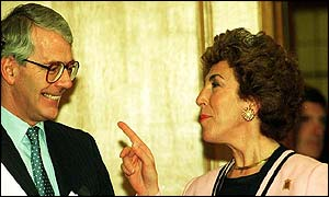 John Major and Edwina Currie in 1984