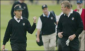 Bernhard Langer and Colin Montgomerie during their round