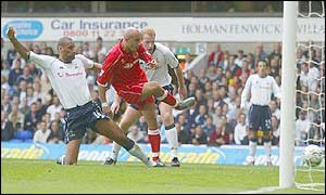 Massimo Maccarone opens the scoring for Middlesbrough