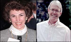 Edwina Currie and John Major