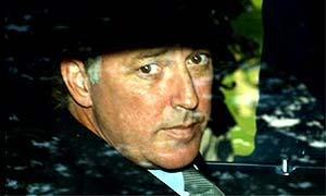 Michael Barrymore leaving the inquest