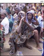 Relatives waiting for news in Dakar