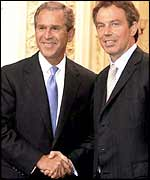 President Bush with Tony Blair